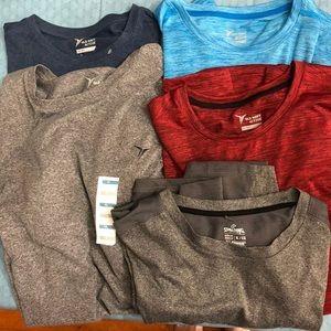 Bundle of men's active wear shirts